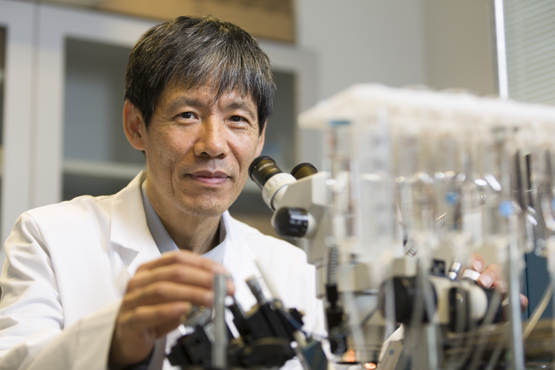 Researcher in lab
