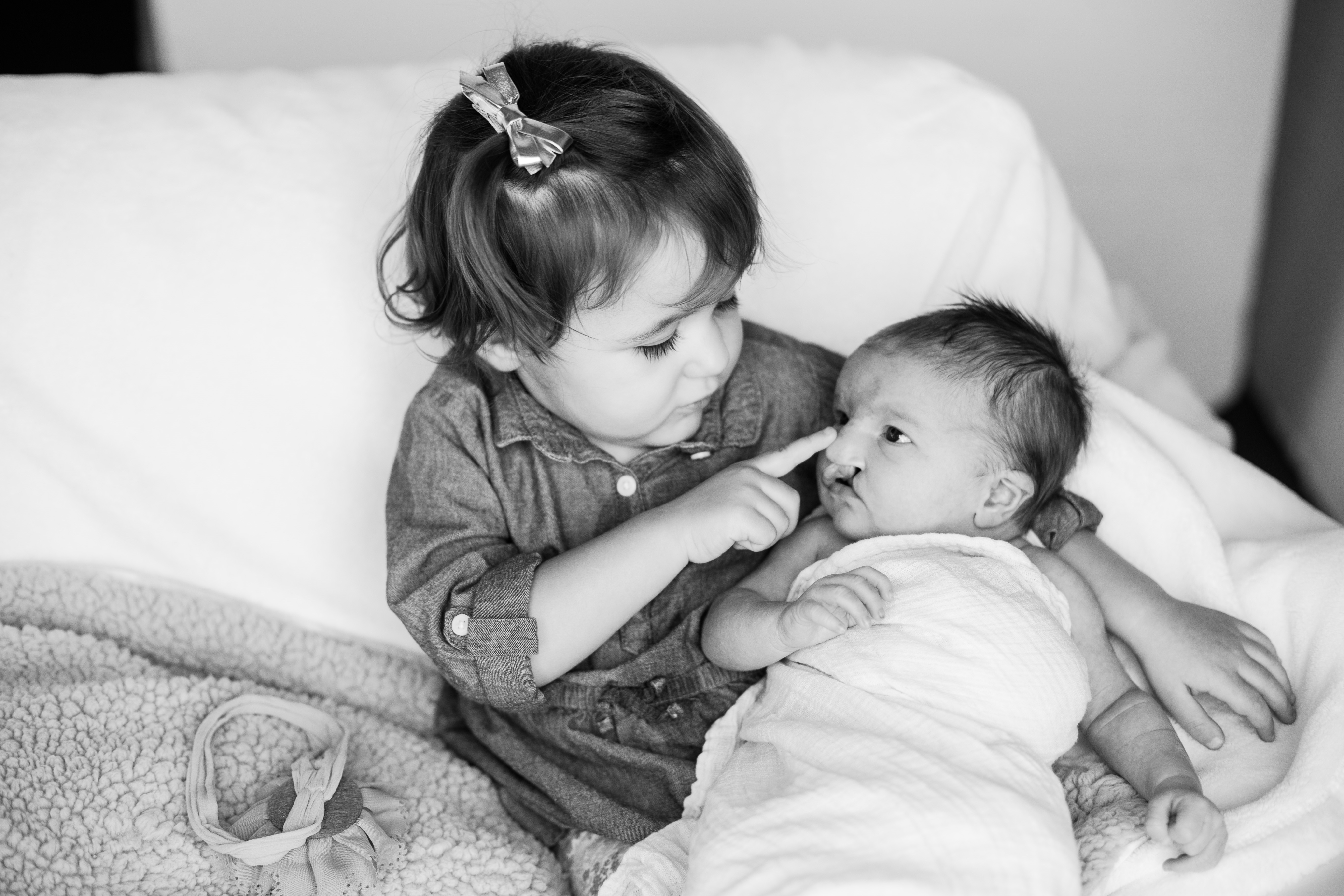 Barrow patient, Rory, pictured with sister