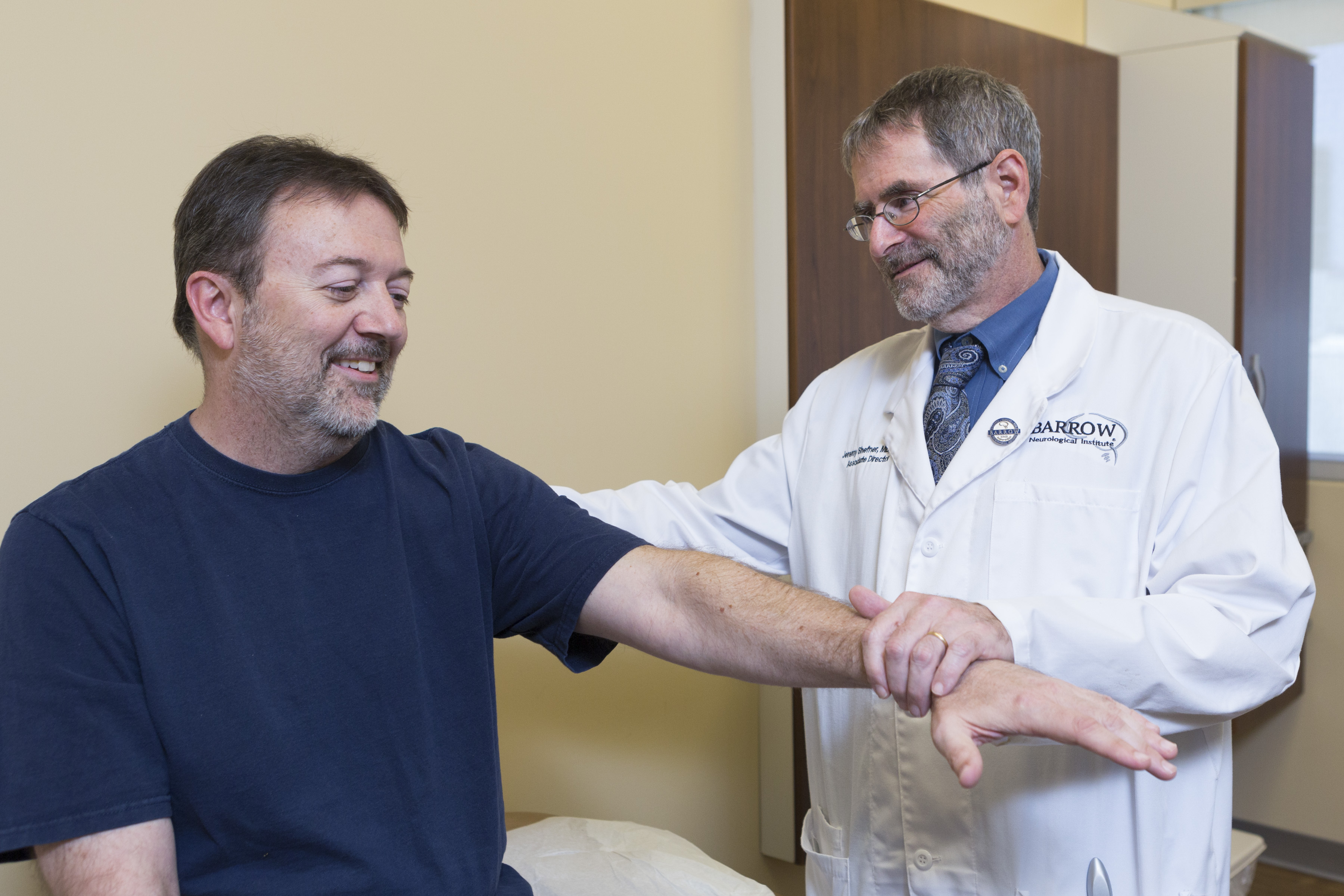 ALS patient at Barrow for appointment with Dr. Shefner